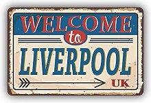 Liverpool City United Kingdom Retro Vintage Emblem