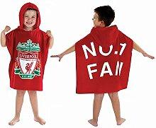 Liverpool FC Kinder Poncho Handtuch Mit Kapuze