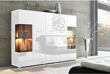 Livetastic HIGHBOARD , Weiß , Metall , 6 Fächer