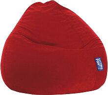 Livetastic SITZSACK Mikrofaser Rot , 300 L,