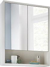 Livetastic SPIEGELSCHRANK Weiß , 57x72x16 cm