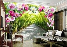 LIVEXZ DIY,3d Blume Tür Tapete Wandbild für