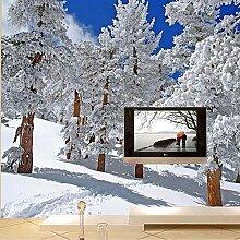 LIVEXZ DIY,3D Fototapete Tapeten HD Winter Schnee