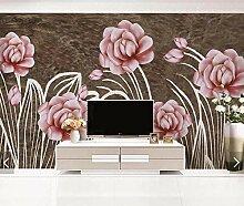LIVEXZ DIY,Aquarell Blumen Wandbilder Fototapete