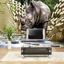 LIVEXZ DIY,Großes Wandbild Tapete 3D Stereo Rhino