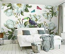 LIVEXZ DIY,Nordic Blume Schmetterling Tapete