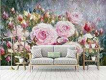 LIVEXZ DIY,Rosa rose blume ölgemälde wandbild