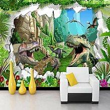 LIVEXZ DIY,Tapete 3D Cartoon Dinosaurier für