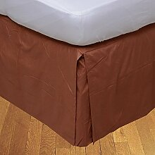 Living Box & Co 1Stück Plissee Bett Rock (Drop Länge 35cm) 100% echtem Ägyptische Baumwolle Premium Qualität 300Fadenzahl, Baumwolle/ägyptische Baumwolle, Brick Red, Emperor(7'x6'6'')