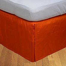"""Living Box & Co 1Stück Plissee Bett Rock (Drop Länge 39cm) 100% echtem Ägyptische Baumwolle Premium Qualität 300Fadenzahl, Baumwolle/ägyptische Baumwolle, Orange, Small Double(4ft x 6ft 3"""""""")"""