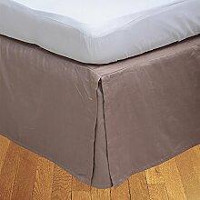 """Living Box & Co 1Stück Plissee Bett Rock (Länge 22cm) 100% echtem Ägyptische Baumwolle Premium Qualität 300Fadenzahl, Baumwolle/ägyptische Baumwolle, aprikose, Single Long(3ft x 6ft 6"""""""")"""