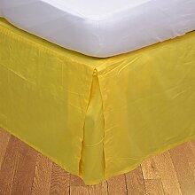 Living Box & Co 1Stück Plissee Bett Rock (Länge 22cm) 100% echtem Ägyptische Baumwolle Premium Qualität 300Fadenzahl, Baumwolle/ägyptische Baumwolle, taupe, Euro King IKEA size