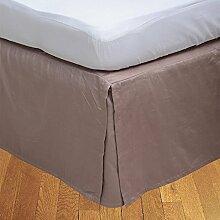 """Living Box & Co 1Stück Plissee Bett Rock (Länge 25cm) 100% echtem Ägyptische Baumwolle Premium Qualität 300Fadenzahl, Baumwolle/ägyptische Baumwolle, aprikose, Single Long(3ft x 6ft 6"""""""")"""