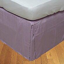 Living Box & Co 1Stück Plissee Bett Rock (Länge 28cm) 100% echtem Ägyptische Baumwolle Premium Qualität 300Fadenzahl, Baumwolle/ägyptische Baumwolle, lila, Euro Double IKEA size