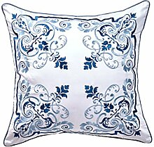 Living Room Sofa Pillow Pillow,Delicate Embroidery Pillowcase-B 45x45cm(18x18inch)VersionA