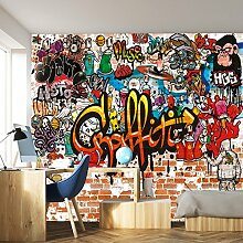 livingdecoration Fototapete Graffiti 366 x 254 cm