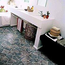 livingfloor® PVC Bodenbelag Bruchstein Granit Grau 2m Breite, Länge variabel Meterware, Größe:18.00x2.00 m