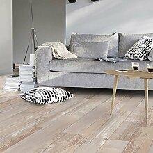 livingfloor® PVC Bodenbelag Shabby Vintage Holzoptik Diele Natur 2m Breite, Länge variabel Meterware, Größe:6.00x2.00 m