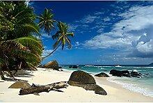 Livingwalls Fototapete Meer Strand Seychellen 4.00