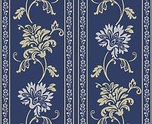 Livingwalls Tapete Classic Fleece, Mustertapete, floral, klassisch, textilähnliche Oberfläche, blau, metallic, 665317