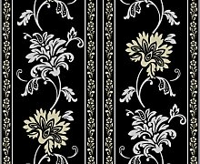 Livingwalls Tapete Classic Fleece, Mustertapete, floral, klassisch, textilähnliche Oberfläche, metallic, schwarz, 665348