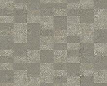 Livingwalls Tapete Titanium Mustertapete in 3D-Optik braun metallic 305272