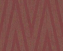 Livingwalls Tapete Titanium Mustertapete metallic rot 306455