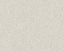 Livingwalls Tapete Titanium Uni-, Strukturtapete creme metallic 881847