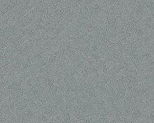 Livingwalls Tapete Titanium Uni-, Strukturtapete grau 315366
