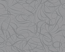 Livingwalls Vliestapete Key to Fairyland Tapete grafisch modern 10,05 m x 0,53 m grau metallic Made in Germany 132017 1320-17