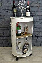 Livitat® Minibar Hausbar Regaltonne Ölfass H80