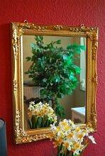 Livitat® Spiegel Wandspiegel Badspiegel barock antik gold 37 x 47 cm