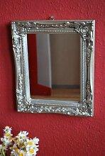 Livitat® Wandspiegel Badspiegel Spiegel antik silber barock Landhaus 27 x 37 cm