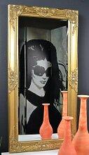 Livitat® Wandspiegel Spiegel barock antik Gold 100 x 50 cm Badspiegel Facettenschliff (Gold)