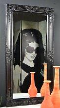 Livitat® Wandspiegel Spiegel barock antik Schwarz