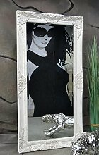 Livitat® Wandspiegel Spiegel barock antik Weiß