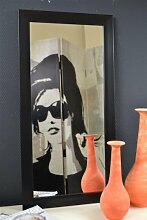 Livitat® Wandspiegel Spiegel barock Silber