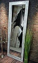 Livitat® Wandspiegel Spiegel Mosaik Badspiegel mit Glasmosaik Crackle (140 x 50 cm Mosaik, Silber)
