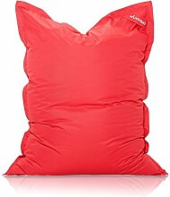 Livodoo® XXL-Premium-Riesen-Sitzsack in Rot 140 x 180 cm Indoor Outdoor mit Innensack 400l-Füllung-Sitzsack-Indoor-Outdoor mit Innensack Sitzkissen Bodenkissen Kissen Sessel BeanBag Sitzsack XXL