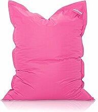 Livodoo® XXL-Premium-Riesen-Sitzsack Pink Rosa 140 x 180 cm Indoor Outdoor mit Innensack 400l-Füllung-Sitzsack-Indoor-Outdoor mit Innensack Sitzkissen Bodenkissen Kissen Sessel BeanBag Sitzsack-Kinder XXL
