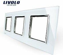 Livolo Luxury White Pearl Crystal Glass,