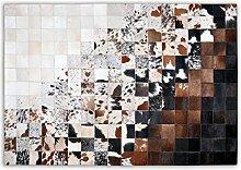 Livorio Designer Patchwork Kuhfell-Teppich - B170x