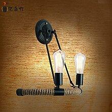 LIVY Amerikanisches Dorf Halle kreative Wand Lampe Vintage industrielle Veranda Balkon Eisen Seil Wandleuchte