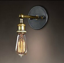 LIVY Continental Retro Wandleuchte Qualität Glas Wandleuchten LED-Lampen Esszimmer Wandleuchte geeignet für Spannung 90-260V