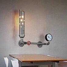 LIVY-Industrielle Restaurant Retro-kreative Café Bar Eisenstangen loft Rohr Wand Lampe Wand Lampe