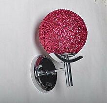 LIVY Innovation besonders einfachen und modernen Silber Wand Lampe Nachttischlampe kreative Kunst Spiegel Lampe Schlafzimmer