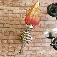 LIVY Neue Loft industriellen Vintage Wand Lampe Fackel kreative amerikanische ländliche Glaskorridor Korridor Schmiedeeisen dekorative Wandleuchte