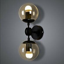 LIVY Nordamerikanische kreative Persönlichkeiten Wohnzimmer Schlafzimmer Nachttischlampe Vintage industrielle Wind magische Bohne Glaslampe