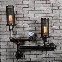 LIVY Vintage industrielle Restaurants Cafés Rohr Wand Lampe kreative Schmiedeeisen dekorative Lampe Shop Balkon Gang Wandleuchte