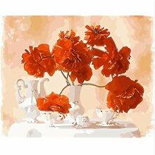 LIWEIXKY Blumenbild DIY Malerei by Zahlen Malerei